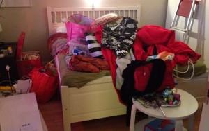 Traumatisk bild av mitt sovrum!