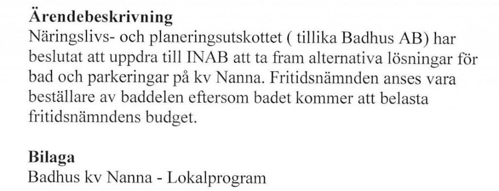 Nanna budget 1
