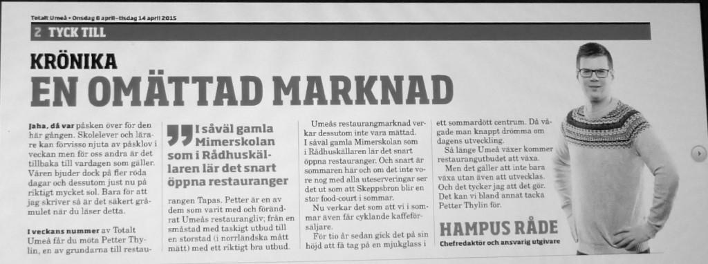 Nanna Totalt Umeå