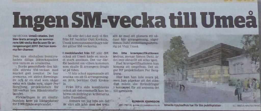 Nanna ej SM-vecka VK