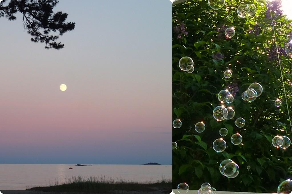 Såpbubblor + månbubbla b