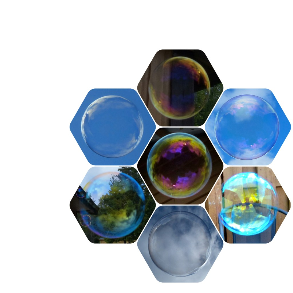 Såpbubblor jorden