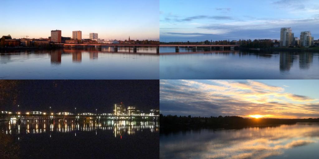 Umeå älv natt