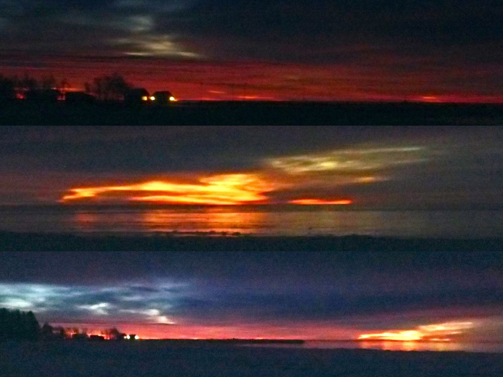 Sörmjöle soluppgångar eld