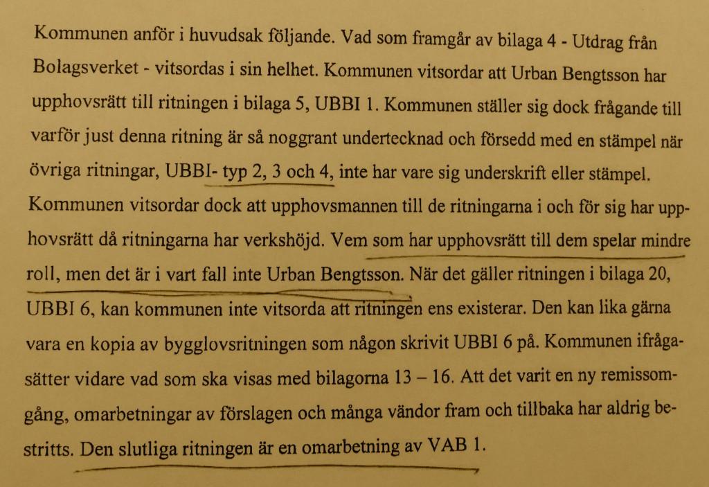 UBBI bevis tingsrätt 2 gul