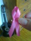 Det årliga rosa bandet från Bröstcancerfonden.
