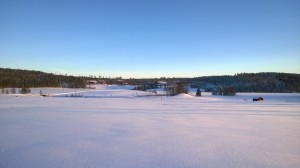 Pengsjö på vintern