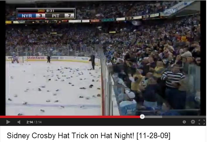 Sidney Crosby Hat Trick