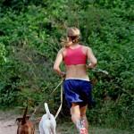 Ute och springer med Fred & Julia