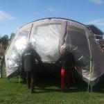 Ambasadörn Odd Arne blev tvungen att flytta sitt tält