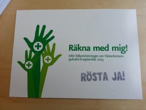 Vykort RöstaJa