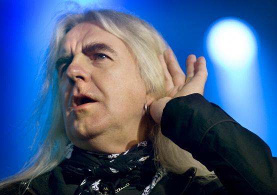 Saxons sångare Biff Byford.