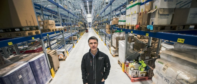 Enorm lagerlokal invigd i Umeå