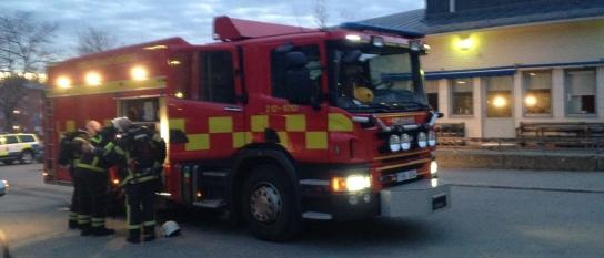 Brandlarm på asylboende i Umeå