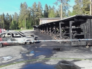 Kraftig brand i Robertsfors