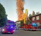 Kraftig brand – en skadad