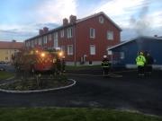 Larm om brand i Umeå