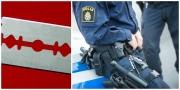 Hotades med rakblad i Umeå