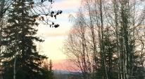 Morgon sol vid Norrbäck stöttinfjäll.