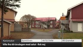 VK100: Ville avfyra kanon i Umeå