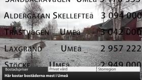VK100: Dyraste adresserna i Umeå