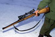 Slet till sig laddat jaktgevär