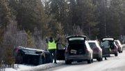 Tyska biltestare i bilkrasch