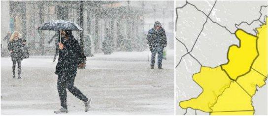Snö och blåst ger problem