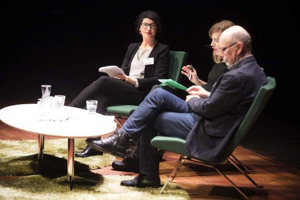 Littfest 2017.  Kristina Sandberg, Annika Norlin och Sven Teglund i samtal.