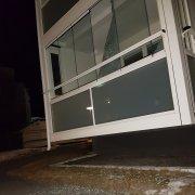 Ruta krossades på balkong