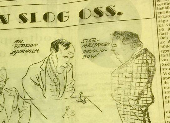 Ur VK:s reportage från schackmatchen.