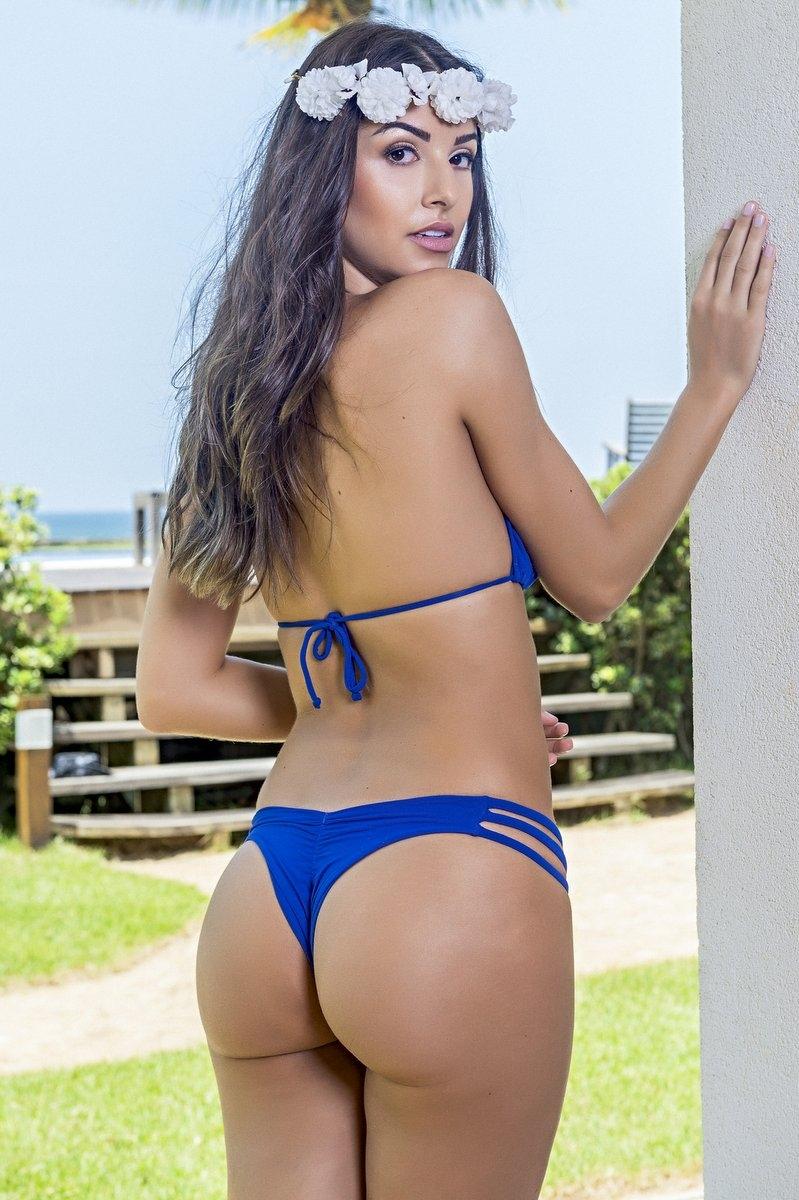 Santa Areia Biquini Strips Blue 409AZ