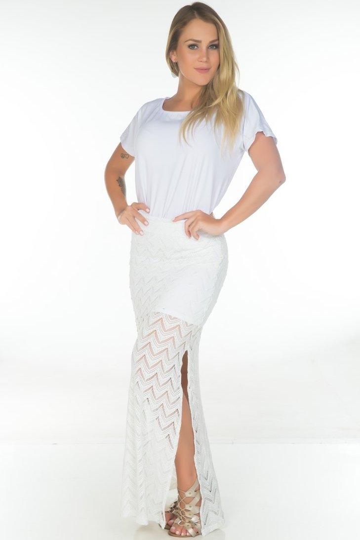 Garota Fit Skirt Long lace SAB06A