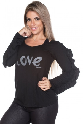 shirt-long-sleeve-love-garota-fit-bl43au Garota Fit Fashion Fitness e Praia