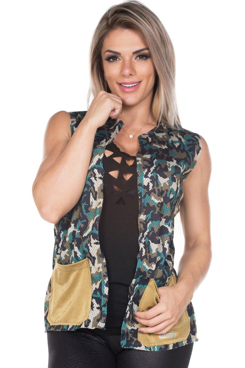 Garotafit Colete Camuflado COL05E01U