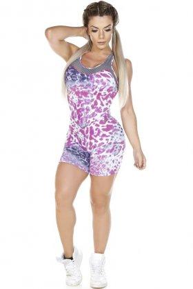 Macaquinho Estampado Debby - Garotafit MAC147E02 Garotafit Fashion Fitness e Praia