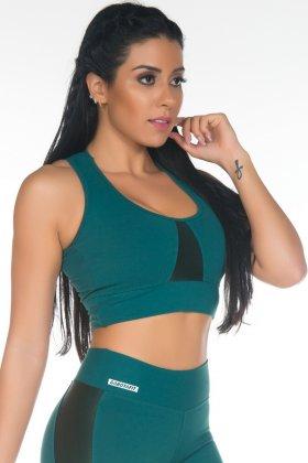 top-sem-bojo-cirre-verde-garota-fit-tbs02a Garota Fit Fashion Fitness e Praia