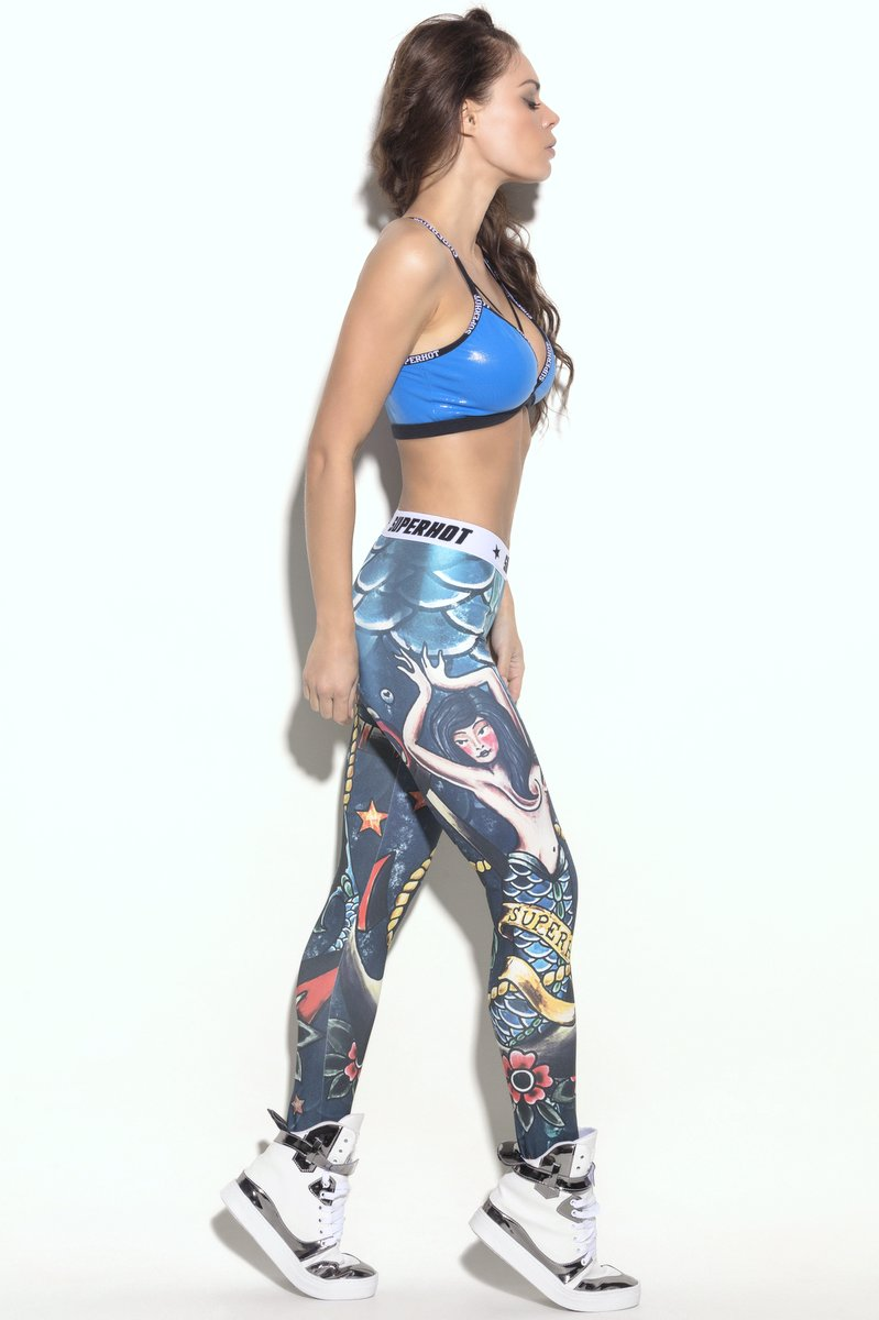 Superhot Calça Legging Ink Mermaid CAL1300