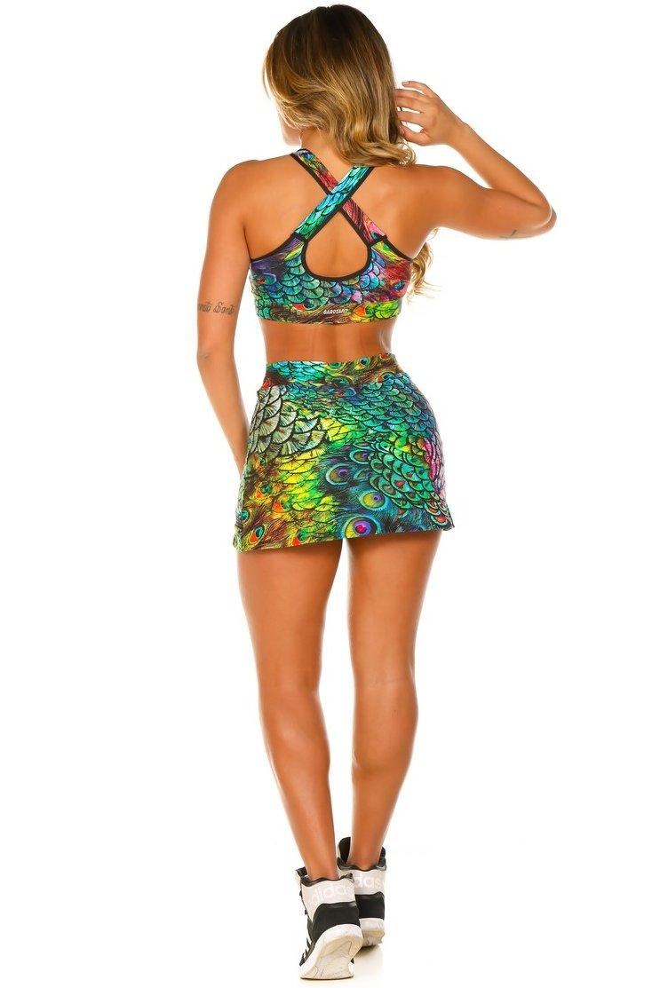 Garota Fit Saia Shorts Laslie SAB12E01