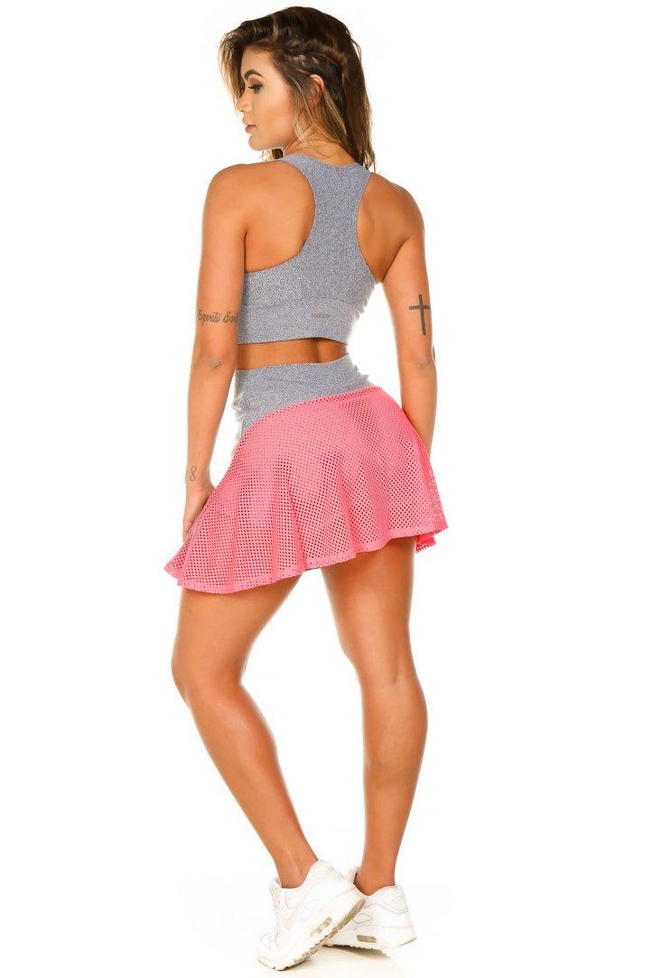 Garota Fit Saia Shorts Rock SAB13CM
