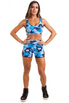 Conjunto Estampado Carol - Garota Fit FCS48E02U Garota Fit Fashion Fitness e Praia