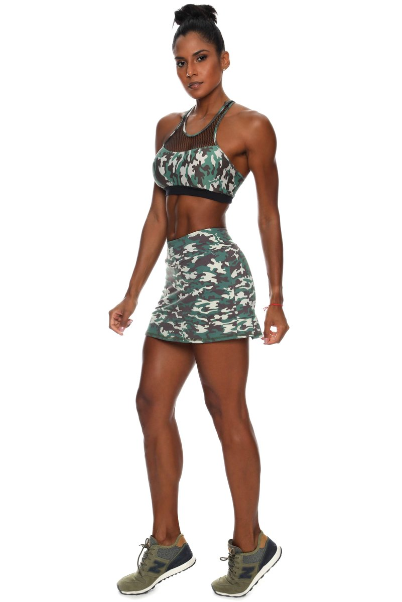 Canoan Shorts Saia Camouflage Green 03138