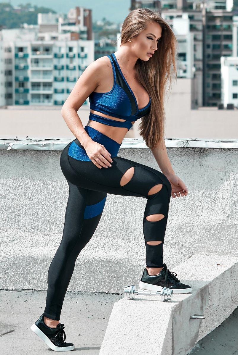 Lets Gym Calça Legging Gym Fit Preta L578B