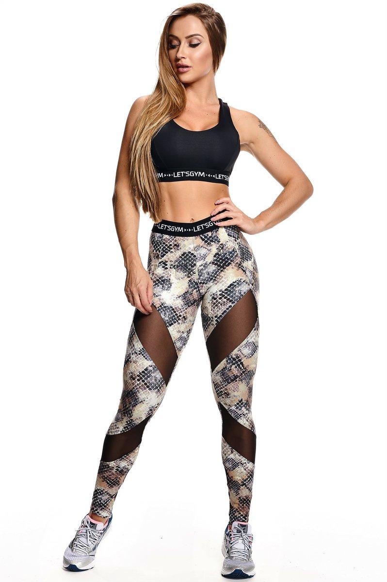 Lets Gym Calça Legging Snakeskin L580B