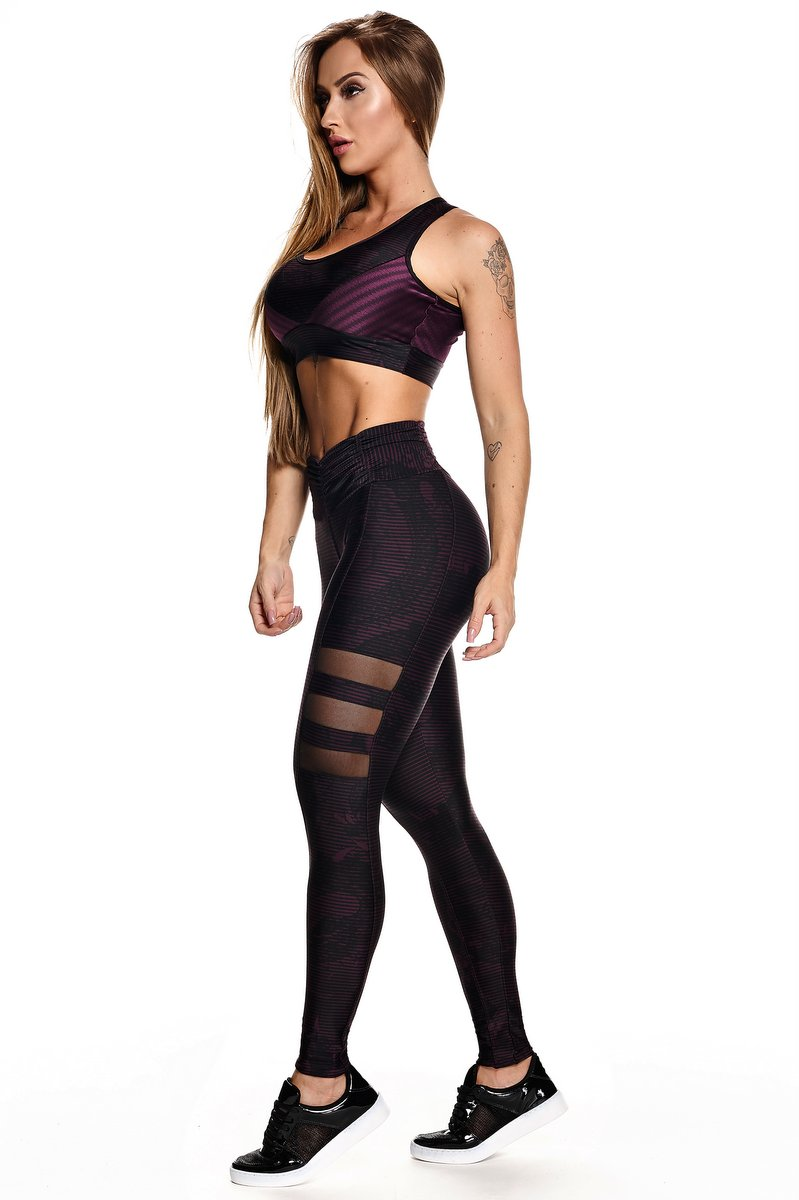 Lets Gym Calça Legging Snake Fit Roxa L575B