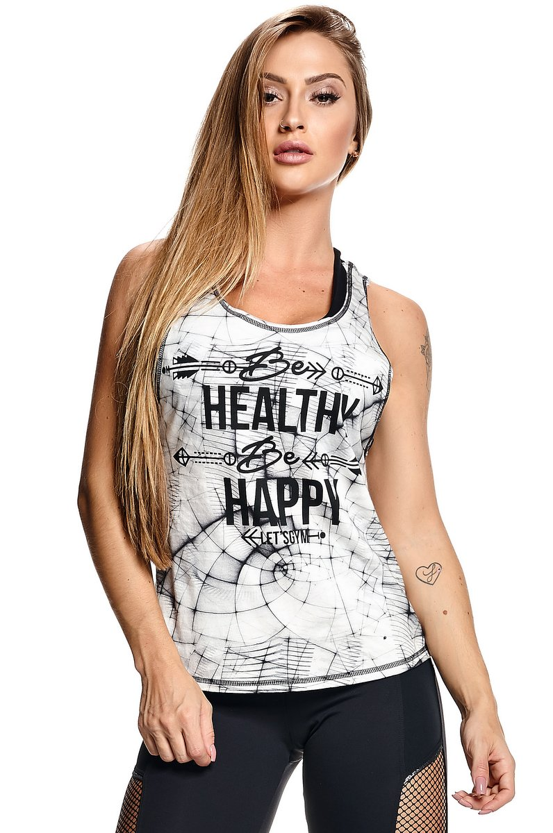 Lets Gym Regata Be Happy Branca B572A