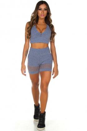 Shorts de Laser Laís - Garota Fit SH451CM Garota Fit Fashion Fitness e Praia