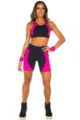 Shorts Hello - Garota Fit SH450DP Garota Fit Fashion Fitness e Praia