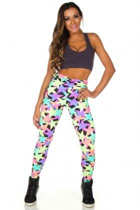 Calça Estampada Fruty - Garota Fit FUS182E02 Garota Fit Fashion Fitness e Praia