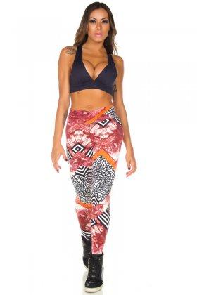 Calça Estampada Fruty - Garota Fit FUS182E05 Garota Fit Fashion Fitness e Praia